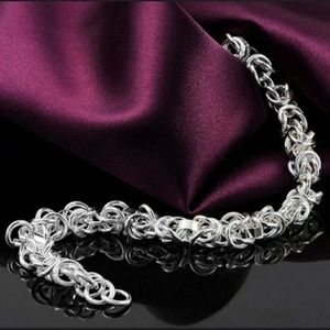 Jewelry - GORGEOUS UNIQUE LINK .925 STERLING SILVER BRACELET